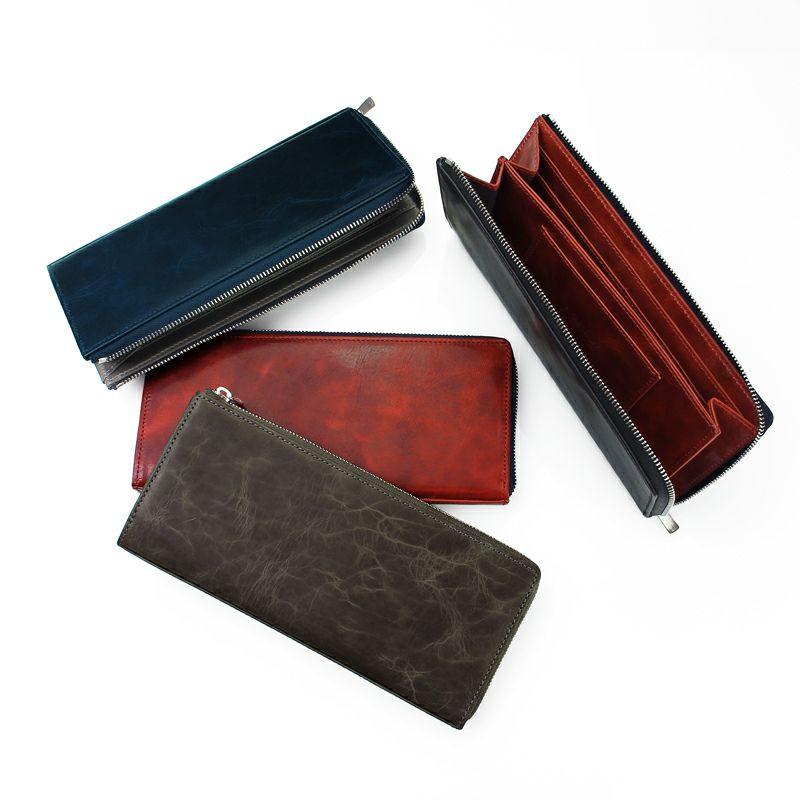 キップレザー 薄型 長財布
