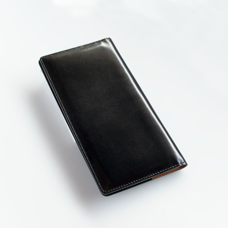 水染めコードバン 薄型 長財布