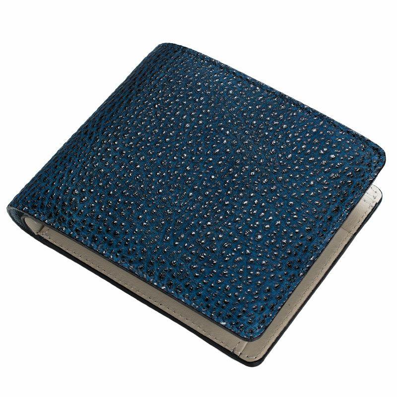 黒桟革「極」二つ折り財布